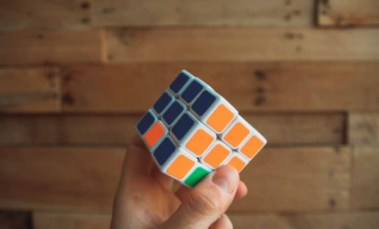 A completed Rubik's cube